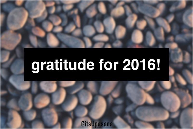 Gratitude for 2016