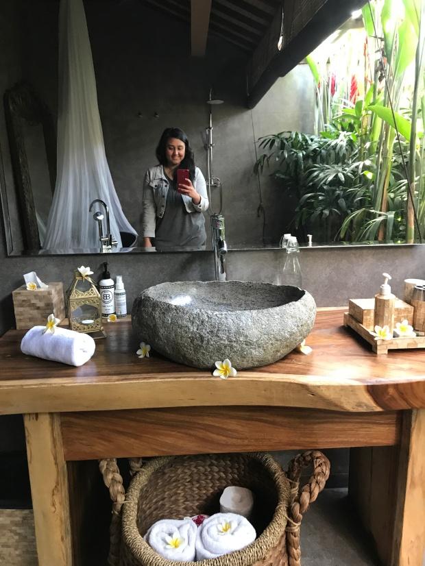 Bathroom Selfie at Bliss Canggu