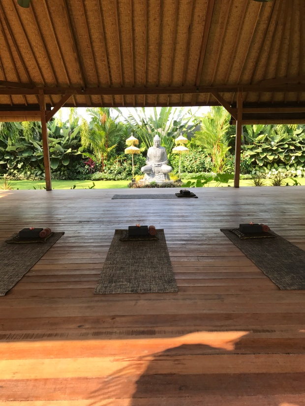 Yoga time at Bliss Sanctuary for Women